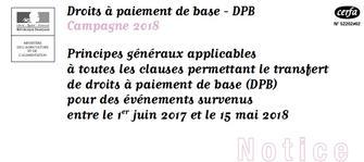 Droits A Paiement De Base Dpb Campagne 2018